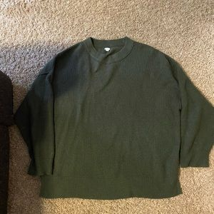 Aerie oversized green sweater size L